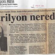 8 Aralık 1991 Yeni Asya