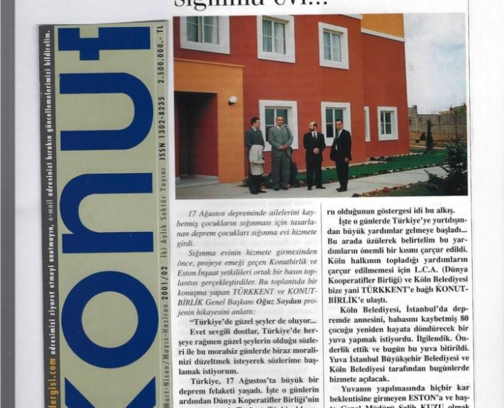 Mart-Haziran 2001 Konut Dergisi